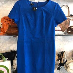 TALBOTS Blue Short Sleeve Sheath Dress  NEW